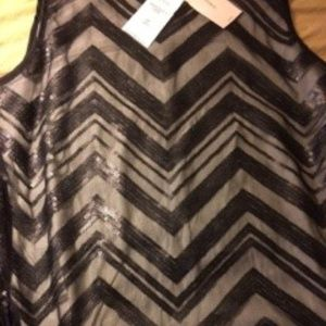 NWT Banana Republic Black Sequence Tank P6